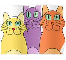 3 Cats Poster