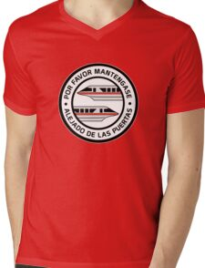 MonorailPorFavorRed Mens V-Neck T-Shirt