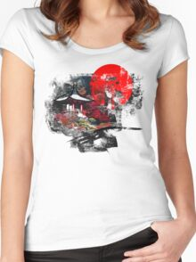 Kyoto Abstract Women's Fitted Scoop T-Shirt