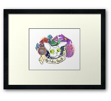 Age before Beauty Framed Print