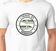 MonorailCircleTravelLime Unisex T-Shirt