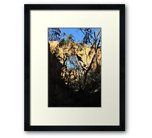 Arch at Golden Gully Framed Print