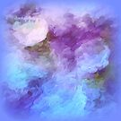 Abstract Flowers In Blue By Sherri Of Palm Springs by Sherri     Nicholas