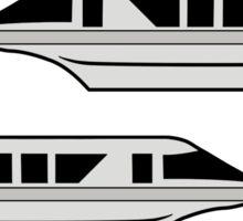 MonorailCircleTravelSilver Sticker