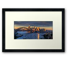 Kissed - Sydney Harbour, Sydney Australia (30 Exposure HDR Panorama)- The HDR Experience Framed Print