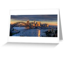 Kissed - Sydney Harbour, Sydney Australia (30 Exposure HDR Panorama)- The HDR Experience Greeting Card