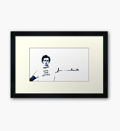 Awesome Napoleon Dynamite - Street art - stencil painting Popart Framed Print