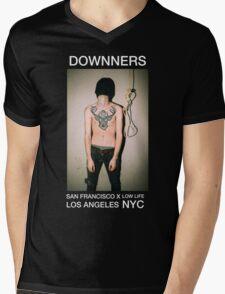 Downners Hang Man Branded Tee Mens V-Neck T-Shirt