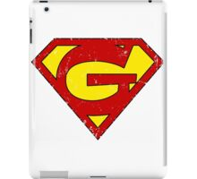 Superman G Letter iPad Case/Skin