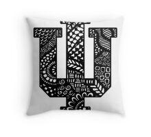 Indiana University Zentangle Throw Pillow