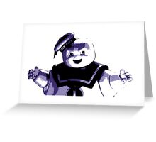 STAY PUFT MARSHMALLOW MAN - Ghostbusters - streetart stencil - Popart Greeting Card