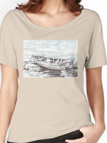 Here is my boat Women's Relaxed Fit T-Shirt