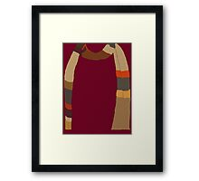 Doctor Who Scarf Framed Print