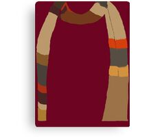 Doctor Who Scarf Canvas Print