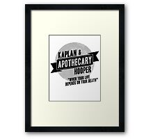 Kaplan & Hooper Apothecary Framed Print