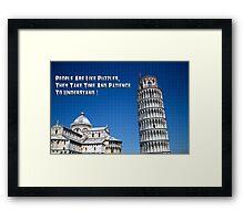 Pisa Puzzle Framed Print
