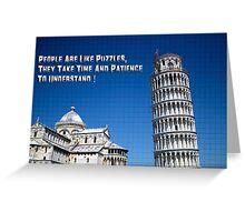 Pisa Puzzle Greeting Card