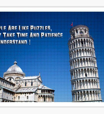 Pisa Puzzle Sticker