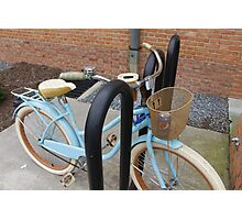Little Blue Bike Photographic Print
