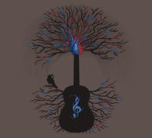 Rhythms of the Heart ~ Surreal Guitar One Piece - Short Sleeve