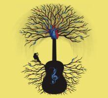 Rhythms of the Heart ~ Surreal Guitar Kids Tee
