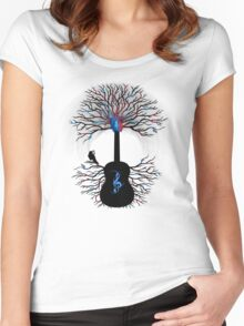 Rhythms of the Heart ~ Surreal Guitar Women's Fitted Scoop T-Shirt