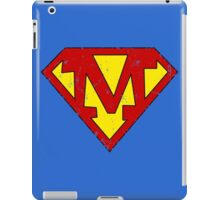 Superman M Letter iPad Case/Skin