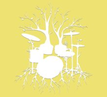 """Live the Beat to the Tempo of Creation"" ~ drum tree art , version1 One Piece - Short Sleeve"
