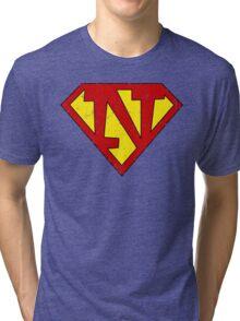Superman N Letter Tri-blend T-Shirt