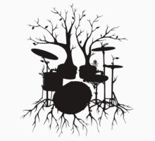 """Live the Beat to the Tempo of Creation"" ~ drum tree art, version2 One Piece - Short Sleeve"