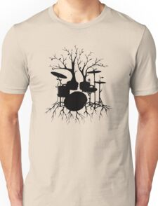 """""""Live the Beat to the Tempo of Creation"""" ~ drum tree art, version2 Unisex T-Shirt"""