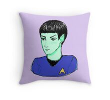 Cute Science Officer Throw Pillow