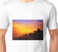 Sunset and Fire Unisex T-Shirt