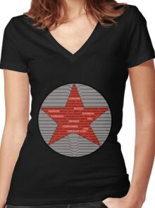 Winter Soldier Trigger Words Women's Fitted V-Neck T-Shirt