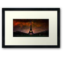 Bonsoir Paris Framed Print
