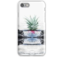 Abstract Seascape Tropical Pineapple Print iPhone Case/Skin