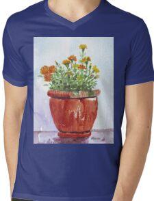 French Marigolds Mens V-Neck T-Shirt