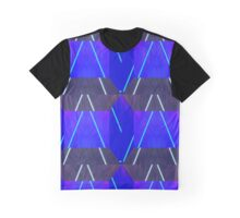 Neon Lazer Patten Graphic T-Shirt
