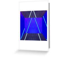 Neon Lazer Patten Greeting Card