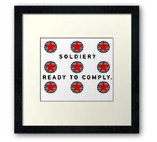Soldier - CACW Framed Print