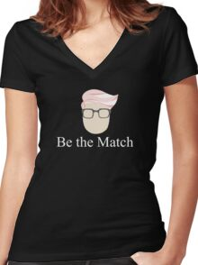 Be the Match - Hero4Hero Logo Women's Fitted V-Neck T-Shirt