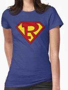 Superman R Letter Womens Fitted T-Shirt