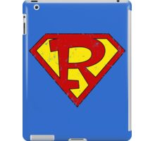 Superman R Letter iPad Case/Skin