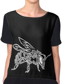 """Bee Spirit"" ver.2 - Surreal abstract tribal bee totem animal Chiffon Top"