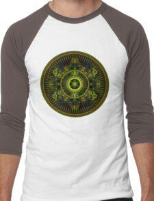 Metatron's Magick Wheel ~ Sacred Geometry Men's Baseball ¾ T-Shirt