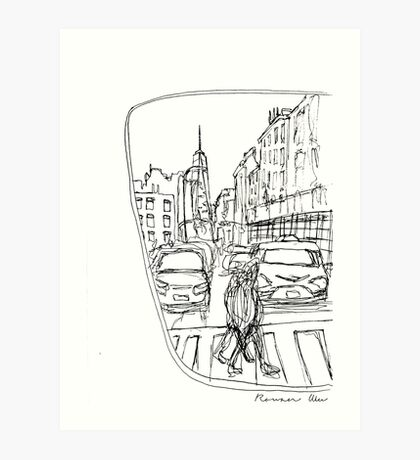 Taxi Window Art Print