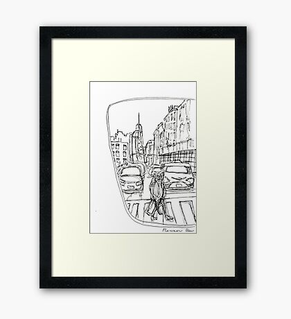Taxi Window Framed Print