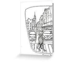 Taxi Window Greeting Card