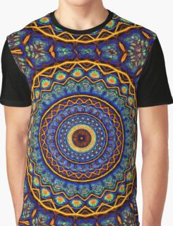 Kaleidoscope 4 abstract stained glass mandala pattern Graphic T-Shirt