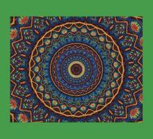 Kaleidoscope 4 abstract stained glass mandala pattern Kids Tee